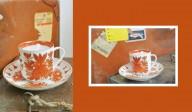 Bougie tasse vintage