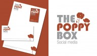 Logo, carte de visite, entête de lettre - The Poppy Box